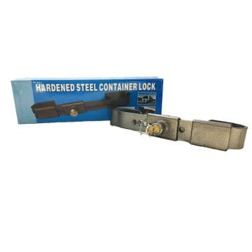 2 x 6mm HARDENED STEEL SHIPPING STORAGE CONTAINER SECURITY LOCKS 23-34cm PADLOCK